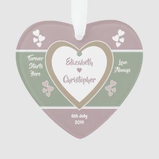 Ornamento O casamento empoeirado do rosa cor-de-rosa e do