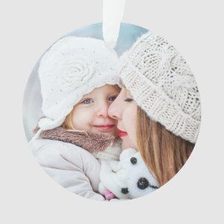 Ornamento O inverno dos feriados espirra a foto de família