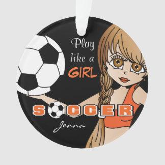 Ornamento O jogo gosta de um futebol | da menina |