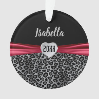 Ornamento O leopardo cinzento personaliza o design