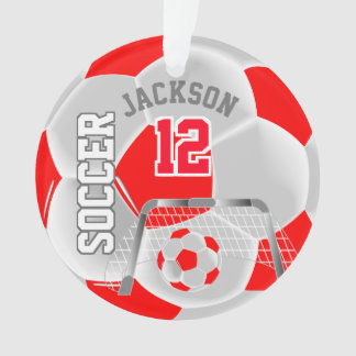 Ornamento O vermelho e o branco personalizam a bola de