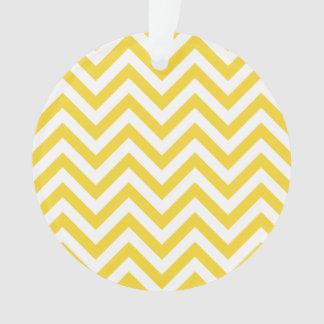Ornamento O ziguezague amarelo e branco listra o teste