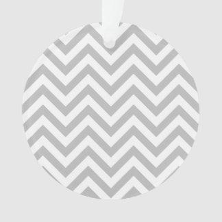Ornamento O ziguezague cinzento e branco listra o teste