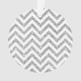Ornamento O ziguezague de prata do brilho listra o teste
