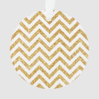 Ornamento O ziguezague do brilho do ouro branco listra o