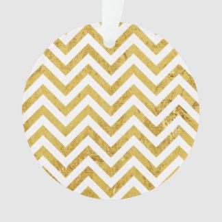 Ornamento O ziguezague elegante da folha de ouro listra o