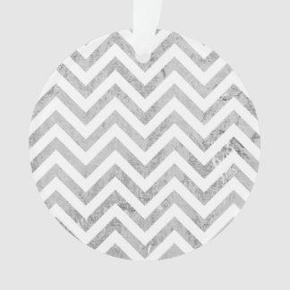 Ornamento O ziguezague elegante da folha de prata listra o