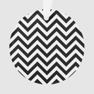 Ornamento O ziguezague preto e branco listra o teste padrão