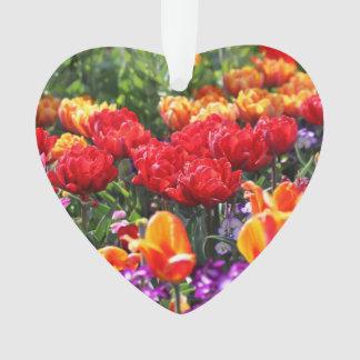 Ornamento Ondas florais dos carmesins de Falln