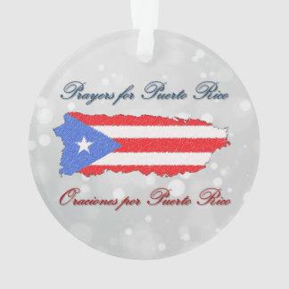 Ornamento Orações para Puerto Rico