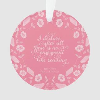Ornamento Orgulho floral de Jane Austen & citações Bookish