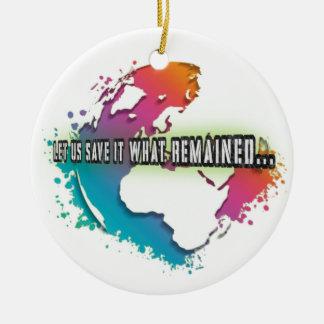 Ornamento original do círculo do Dia da Terra