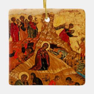 Ornamento ortodoxo do ícone da natividade