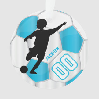 Ornamento Os azuis bebés e o branco personalizam o jogador