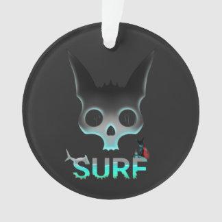 Ornamento Os grafites urbanos do surf refrigeram o gato