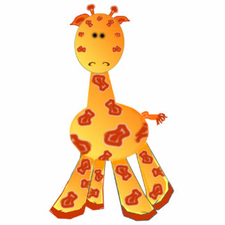Ornamento ou escultura do girafa dos desenhos anim foto escultura