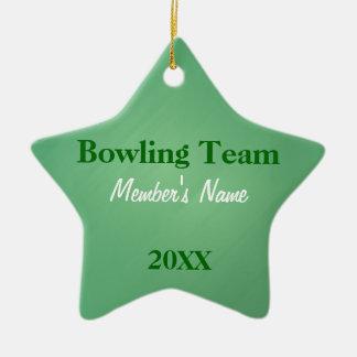 Ornamento ou prêmios verdes & brancos da equipe de