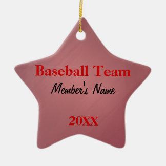 Ornamento ou prêmios vermelhos & pretos da equipe