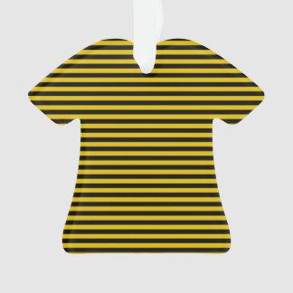 Ornamento Ouro amarelo e xadrez preta listrados