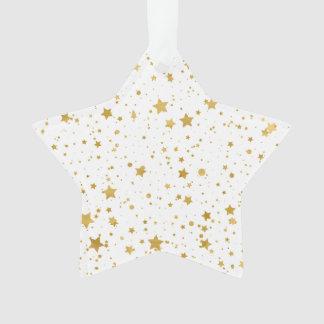 Ornamento Ouro Stars2 - Branco puro