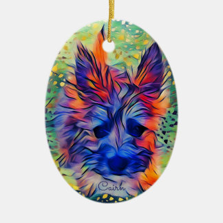 Ornamento oval do filhote de cachorro de Terrier