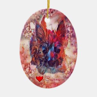 Ornamento oval do filhote de cachorro dos montes