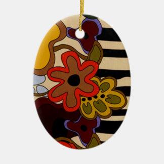 ornamento oval retro dos anos 60