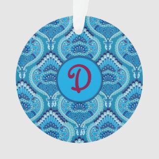 Ornamento Paisley emplumado - azulado