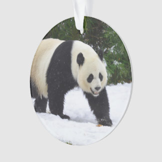 Ornamento Pandas gigantes de Smithsonian | na neve