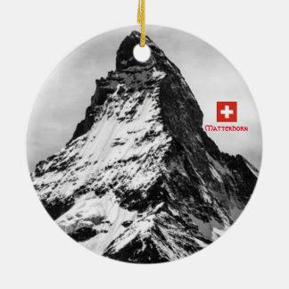 Ornamento panorâmico da suiça de Matterhorn