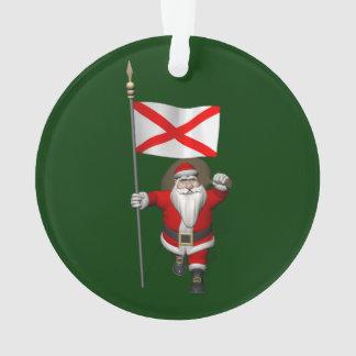 Ornamento Papai Noel alegre que visita Alabama