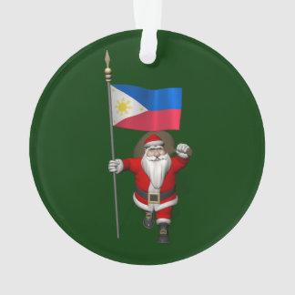 Ornamento Papai Noel com a bandeira das Filipinas