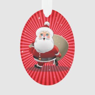 Ornamento Papai Noel feliz