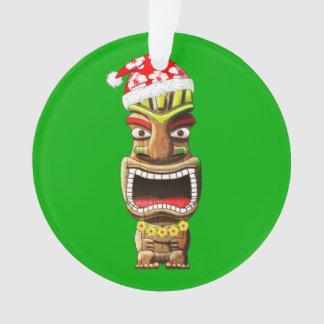 Ornamento Papai noel havaiano Tiki do Natal