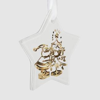 Ornamento Papai noel que decora o ouro da árvore de Natal