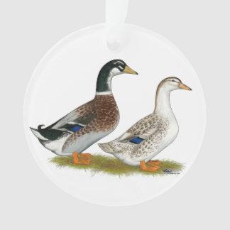 Ornamento Patos:  Appleyard de prata