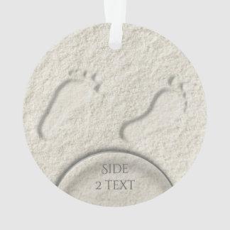 Ornamento Pegada/pegadas feitas sob encomenda no design do