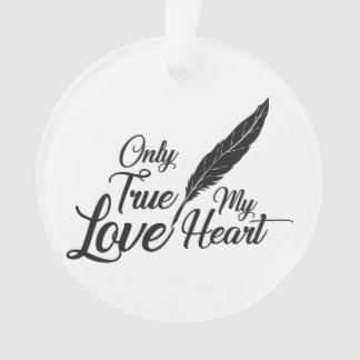 Ornamento Pena verdadeira do amor da ilustração