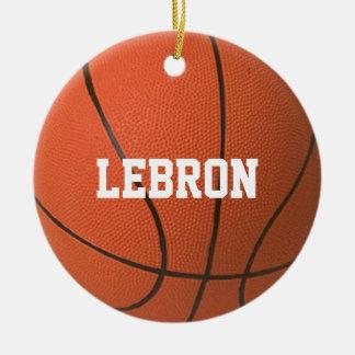 Ornamento personalizado amante do basquetebol