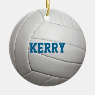 Ornamento personalizado amante do voleibol