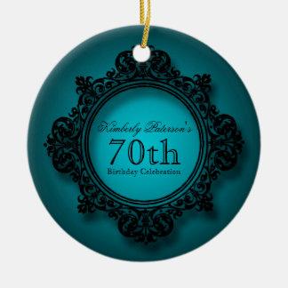 Ornamento personalizado aniversário do 70 do