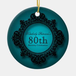 Ornamento personalizado aniversário do 80 do