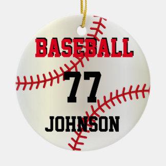 Ornamento personalizado basebol