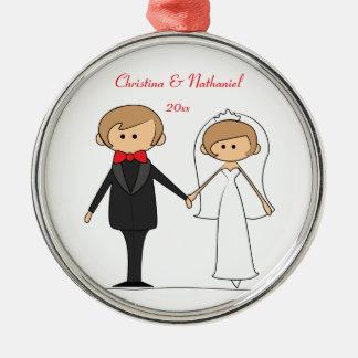 Ornamento personalizado caráteres do casamento