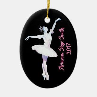 Ornamento personalizado da bailarina, presente