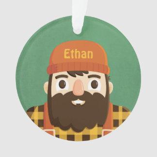 Ornamento personalizado da barba do lenhador