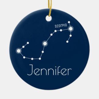 Ornamento personalizado da constelação da