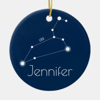 Ornamento personalizado da constelação de Leo