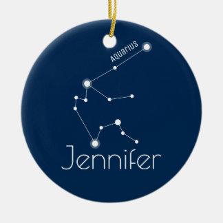 Ornamento personalizado da constelação do Aquário