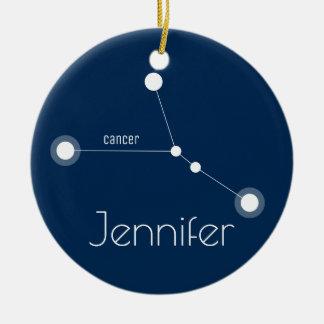 Ornamento personalizado da constelação do cancer